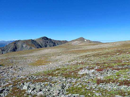 Looking south toward Mount Bancroft on the final approach to James Peak