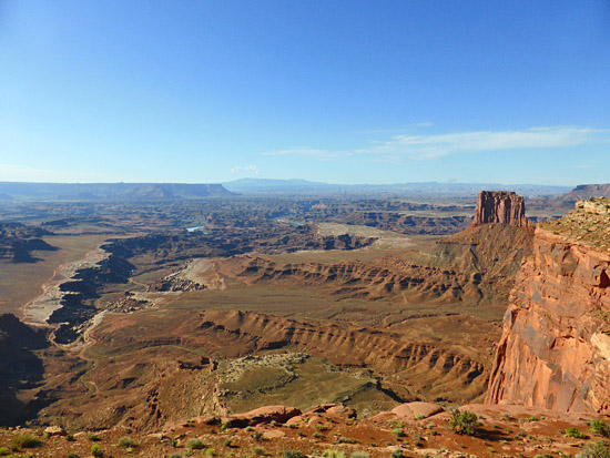 View from the Lathrop Trail descent to White Rim Road