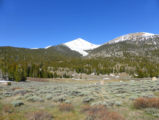 View of Pyramid Peak from high points on the Timber Creek Loop