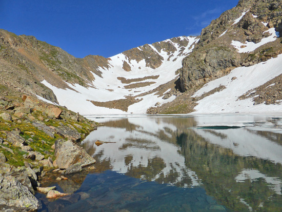 Upper Diamond Lake in the Indian Peaks Wilderness